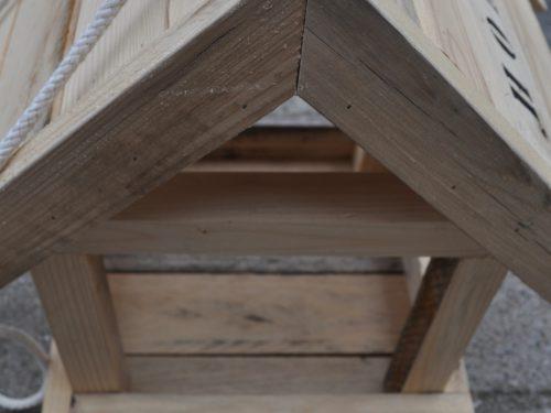 Vogelhuis hangend hout Home