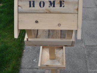 Vogelhuis staand hout Home, standaard, robuust, vogelhuisje