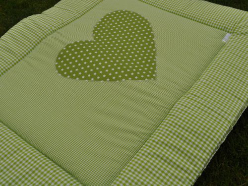 Boxkleed katoen groen hart