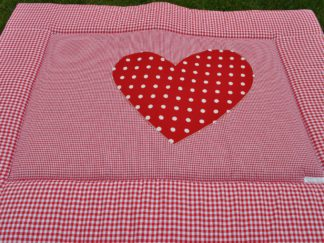 Boxkleed katoen rood hart