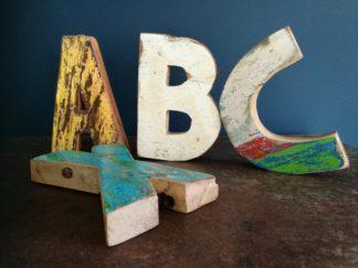 Letters sloophout 18 cm