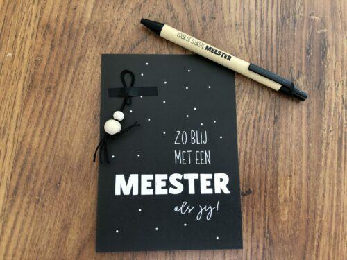 """Bedankje voor de """"Leukste Meester"""" pen, tas, kaartje, Schoolkadootjes"""