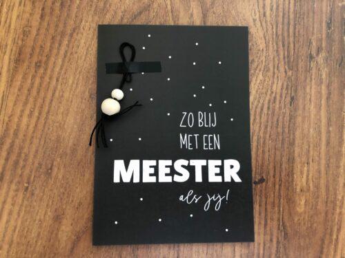kaartje voor de meester