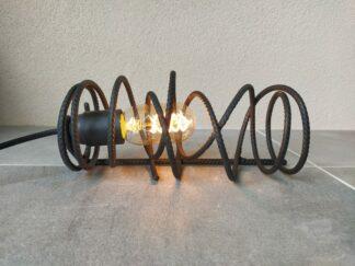 Industriële tafellamp 'Neblina' mat zwart