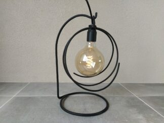Industriële tafellamp 'Cheio' mat zwart betonstaal