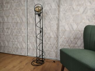 Industriële vloerlamp 'Farol' mat zwart staand betonstaal