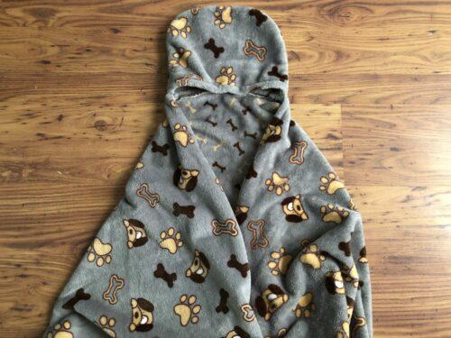 Snuggle van fleece zelfgemaakt plaid, dekentje, knuffeldeken, cape, deken