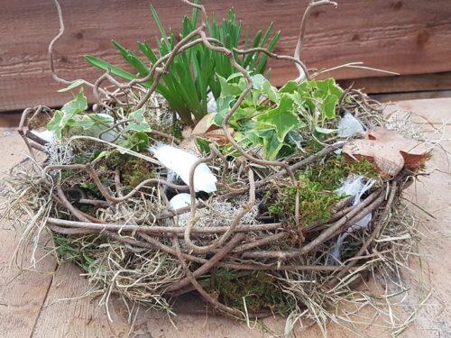 """Doe-het-zelf voorjaars/paaspakket """"nestje"""" DIY voorjaarsworkshop Pasen"""