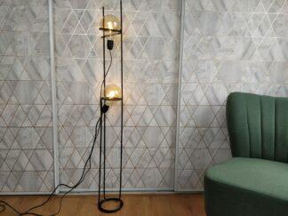 Industriële vloerlamp O casal, betonstaal, mat zwart, leeslamp, filament, handgemaakt